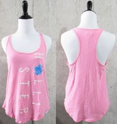 Hollister Razor Back Hot Pink Tank Top, Knit Tops, Juniors Size Small, Tropical #Hollister #TankCami #Casual