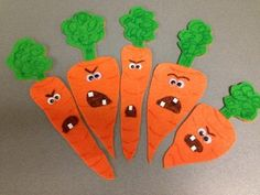 Flannel Friday: Creepy Carrots Flannelboard and Template - RovingFiddlehead KidLit Flannel Board Stories, Felt Board Stories, Felt Stories, Flannel Boards, Preschool Crafts, Crafts For Kids, Preschool Literacy, Preschool Songs, Sequencing Activities