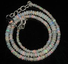 """33 Ctw 1Necklace 2to5mm 16"""" Beads Natural Genuine Ethiopian Welo Fire Opal 69218"""