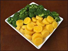 brócolis com mandioquinha