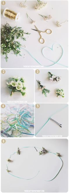 the beauty department flower ribbon
