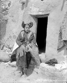 Hopi girl. Walpi Pueblo, First Mesa, Arizona. 1899. Photo by H.S.Poley. Source - Denver Public Library.