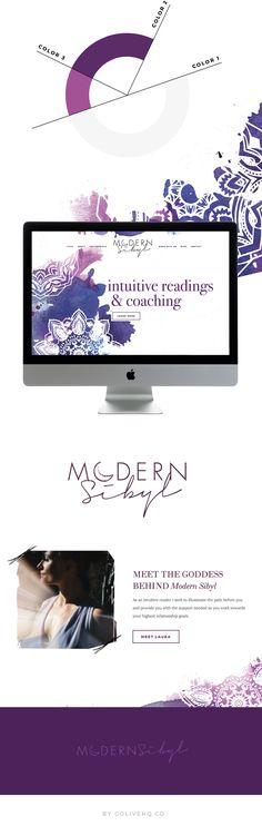 modern bohemian Squarespace website design   by: Go Live HQ
