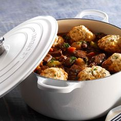 Steak and Porter Casserole with Thyme Scented Dumplings - Le Creuset Recipes