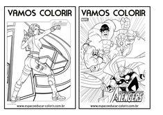 Resultado de imagem para para colorir personagens super herois