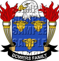 Bowers Family Crest apparel, Bowers Coat of Arms gifts