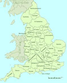 England | Map of England (UK) Counties