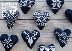 2017010 Knit Fair Isle Hearts pattern by Midknits Fair Isle Knitting Patterns, Fair Isle Pattern, Knitting Blogs, Knitting Charts, Crochet Patterns, Crochet Ideas, Fair Isle Chart, Norwegian Knitting, Craft Sites