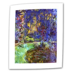 ArtWall Bodmer at Oak at Fontainebleau 3-Piece Gallery-Wrapped Canvas Art by Claude Monet 36 by 54-Inch