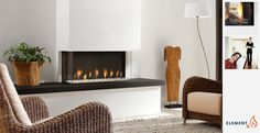 Trisore 95 Element4 Three-Sided Direct Vent Gas Fireplace