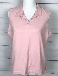 fc40f96d6cb931 AUSTIN CLOTHING CO Women s sleeveless pink Polo size XXL stretch Golf great  cond  AustinClothingCo