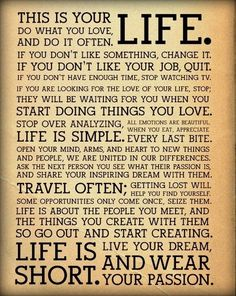 That's your life