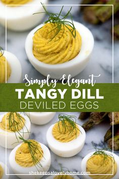 This dill deviled egg is delightfully tangy and so very simple to prepare! All you need is a little dill mustard, creamy horseradish and mayo to whip up these tasty little conversation pieces. #deviledeggs #appetizers
