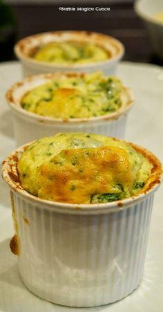 Barbie Magica Cuoca - blog di cucina: Soufflè di spinaci e caprino con crema di patate al limone per l'MTC di marzo