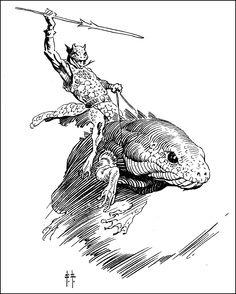 Frank Frazetta: Lizard Rider