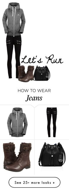 """Let's run"" by blueindiansummer on Polyvore featuring Paige Denim, Volcom, MICHAEL Michael Kors, UGG Australia, women and womenswear"