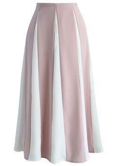 Cherished Memory A-line Skirt in Pink Stripes - Retro, Indie and Unique Fashion