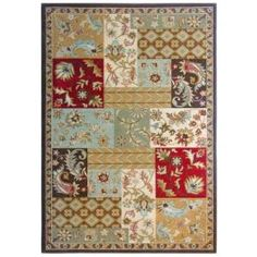 Lanart Patchwork Red 5 ft. x 7 ft. 6 in. Area Rug  on  Daily Rug Deals