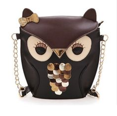 Cute Owl Crossbody Bag for Girls Ladies