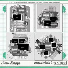 Cindy's Templates - Sequentials 1 to 4: Set 8 by Cindy Schneider