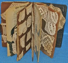 Antique Hand Made Lace Sampler Book