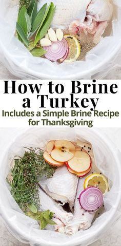 Curious about brining your Thanksgiving Turkey? Wondering what is a brine and what does it do? Needing a simple brine recipe? Basic Turkey Brine – a simple turkey brine recipe that you can easily add your favorite aromatics too! Here is the run-down and all the answers to your brining questions! #TurkeyBrine #EasyTurkeyBrine #TheWoodenSkillet