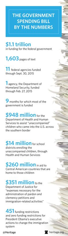 INFOGRAPHIC: Government Spending Bill By the Numbers   #Cromnibus #politics #infographic