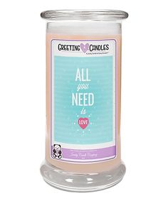 'All You Need Is Love' Chocolate Berries Jewelry Greeting Candle
