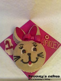 """I love challenges. So..... A customer asked me to make a Cashew cake in the shape of a Easter bunny. A """"Bolo di Cashupete"""" (Cashew cake) is normally baked in a round cake pan and decorated with cherries.  For the recipe click on the link below http://brownyscakes.blogspot.nl/2012/04/easter-bunny-cashew-peanut-cake-bolo-di.html  For all the upcoming recipe just subscribe to my blog!"""