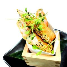 Our King Prawn Spring Rolls, power upped!  Much meatier & longer - try them this lunch time!