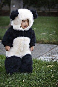 This panda costume is amazing. My kids will deffinatly be dressed up as pandas! So Cute Baby, Baby Love, Cute Kids, Cute Babies, Funny Kids, Niedlicher Panda, Panda Bebe, Cute Panda, Happy Panda