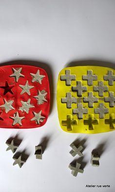 DIY / Mes étoiles, croix ... en béton /                              …