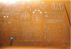Remed car door engraving