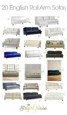 20 English Roll Arm Sofas | How I finally picked a sofa for my living room makeover | One Room Challenge