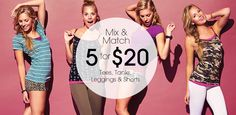 Wet Seal dresses Mix and Match 5 For $20. Tees, Tanks, Leggings & Shorts. http://wetsealcoupons.net/, http://on.fb.me/19mkWTi,
