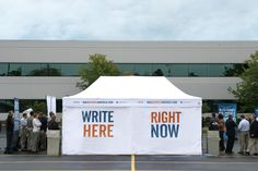 Tent design created for Zondervan's Bible Across America campaign by Extra Credit Projects.