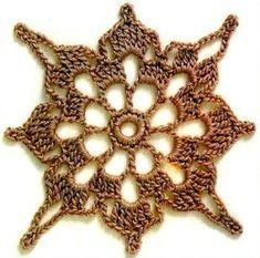 Die Motive - Ксения - Álbuns da web do Picasa Crochet Butterfly Pattern, Crochet Motif Patterns, Crochet Blocks, Granny Square Crochet Pattern, Crochet Round, Crochet Poncho, Crochet Chart, Crochet Squares, Crochet Granny