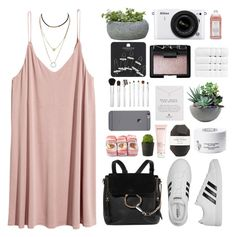"""Untitled #3529"" by tayswift-1d ❤ liked on Polyvore featuring adidas, Chloé, Campania International, Nikon, Williams-Sonoma, Topshop, Sonia Kashuk, Rough Fusion, NARS Cosmetics and Dogeared"