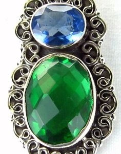This vibrant faceted ovals of Blue and Green Apatite sterling silver pendant is stunningly beautiful. The Blues and Greens shimmer in anticipation of being worn. Worn it will be as it this pendant epitomizes the term understated elegance. - Offered by #taylorsdreams on Bonanza