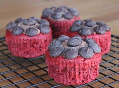 Red velvet cupcakes made with Stevia sweetener — less than 125 calories per cupcake!