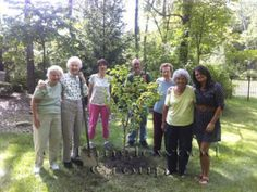 The Parable of the Pear Tree - Memory Garden ladies planting pear tress in the Louis Ferreri Memorial Park. #senioractivity