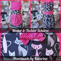 🐈Mutter & Tochter 🐈 Handgemacht Apron, Fashion, Daughter, Handbags, Pinafore Dress, Moda, Fasion, Aprons, Trendy Fashion