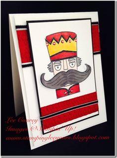 •Santa Stache Clear-Mount Stamp Set    Cherry Cobbler Assortment [    Daffodil Delight     Skin Tone     Smoky Slate    •Basic Black Stampin' Write Marker    •Basic Black 8-1/2X11 Card Stock   •Cherry Cobbler 8-1/2X11 Card Stock    •Whisper White 8-1/2X11 Card Stock    •Basic Black 1/8 Inch Taffeta Ribbon    •Basic Rhinestones Jewel Accents    •Argyle Textured Impressions Embossing Folder [127750]