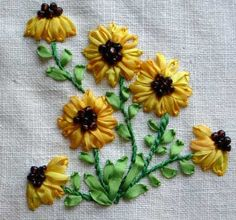 Ribbon embroidery: pretty.