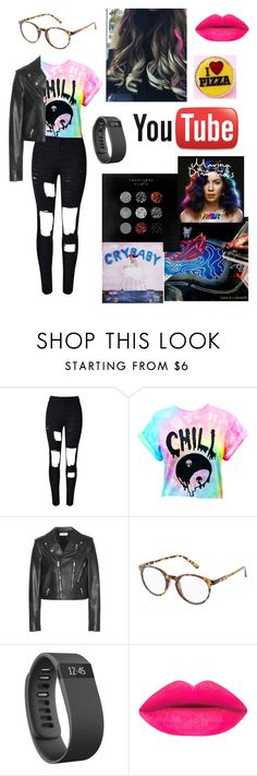 """Jessie Paege"" by aroserocks ❤ liked on Polyvore featuring Yves Saint Laurent, Charlotte Russe and Fitbit"