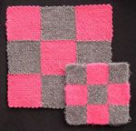 Before and After Felting of weave-it-type woven squares __ see web page for larger photo __ tip by www.eLoomaNation.com