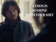 The Musketeers - Athos is so done... @doumiileblanc @MagalieRS