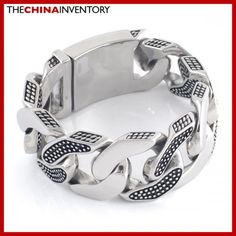 31MM SUPER HEAVY ROCK N ROLL CURB CHAIN BRACELET B2401