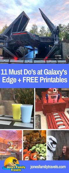 Are you a Star Wars fan? We love visiting Star Wars Galaxy's Edge at Disneyland and Disney World. We share 11 Must Do's at Star Wars Galaxy's Edge + FREE Printables to have some Star Wars fun at home. #starwars #galaxysedge #disneystarwars #starwarsdisney