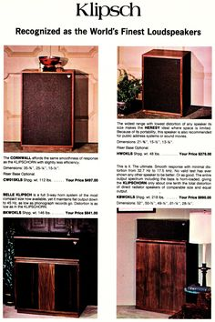 Well, now I do! Vintage Klipsch Cornwall II Model CWO15. I own a pair of these, and they've been serving as side tables for far too long. Need to find out if they work!